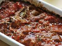 鹿センマイのトマト煮